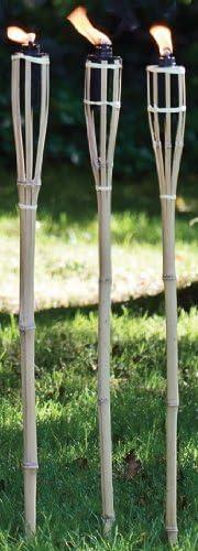 10 Mèches Rechange Pour Torche Torches Torche Flambeaux Extérieur Bambou