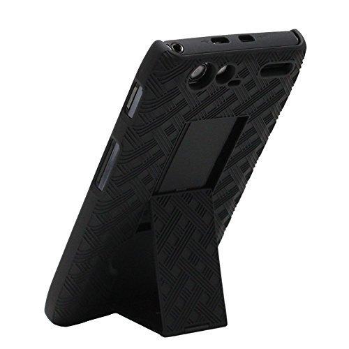 Razr Shell - SANOXYÂ Motorola Droid RAZR MAXX Shell Combo w/Holster & Kickstand MOT912M