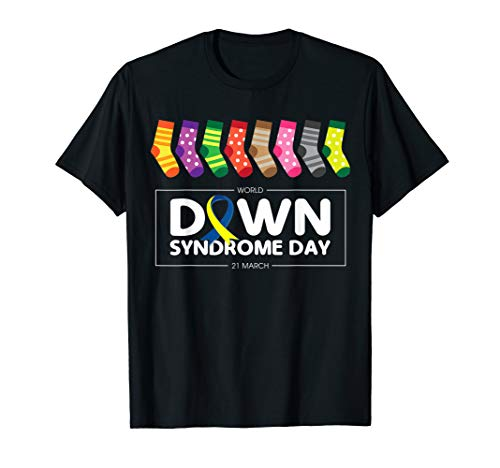 World Down Syndrome Day Awareness Socks T Shirt 21 March Tee