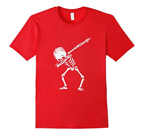 Hair Halloween Costumes Ideas Red Men (Mens Dabbing Skeleton Hairstyle T-Shirt - Funny Halloween Tee 3XL)