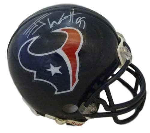 JJ Watt Autographed Houston Texans Riddell Mini Helmet JSA