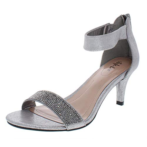 - Style & Co. Womens Phillys Metallic Evening Heels Gray 8 Medium (B,M)