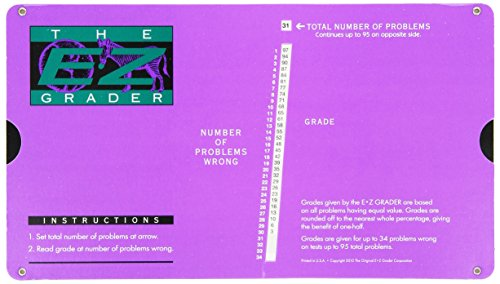 Grading Calculator - E-Z Grader Teacher's Aid Scoring Chart (Purple) - 8-1/2