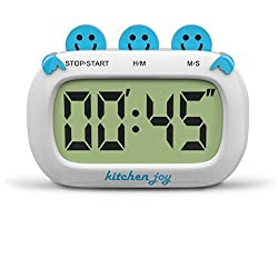 Digital Kitchen Timer Kitchen Joy with Clock and Loud Alarm