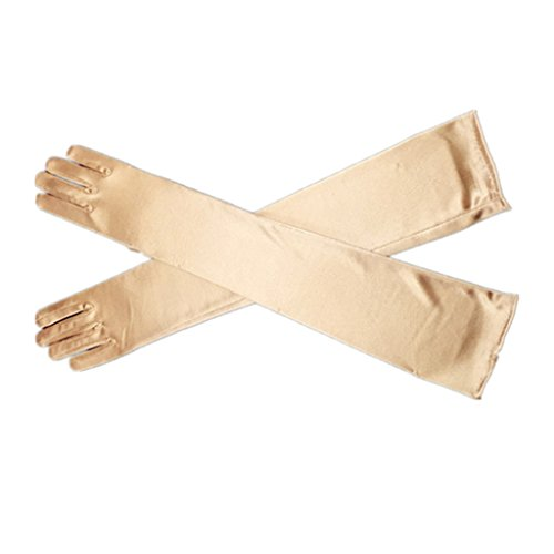 "DreamHigh Women's Evening Party 21"" Long Satin Finger Gloves"