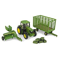 Ertl Collectibles John Deere 6210R Tractor Baling Set