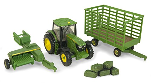 (Ertl Collectibles John Deere 6210R Tractor Baling Set)