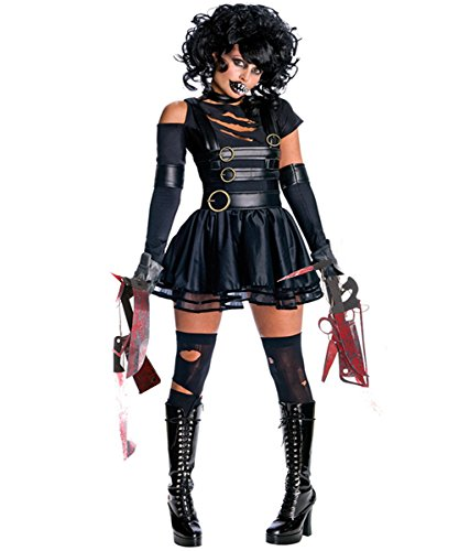 Edward Halloween Costume (Halloween Edward Scissorhands Costumes for Women Secret Wishes Cosplay Costume Vampire Fancy Dress Party Outfit)