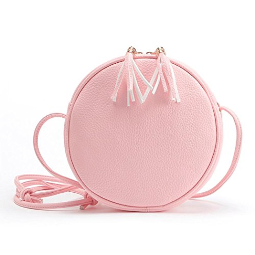 Girls Messenger Handbag Round Pink 1PC Shoulder Ouneed Bag Bags q76xOEwn