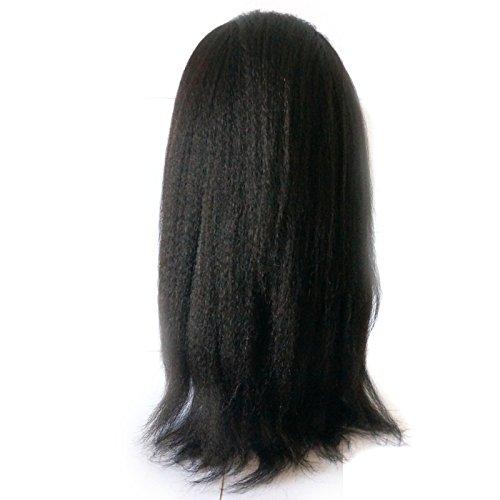 Enoya Hair Best Italian Yaki 360 Lace Frontal Wig Pre Plucked Brazilian Remy Lace Human Hair Wigs for Black Women 180 Density (20'') by Enoya (Image #3)