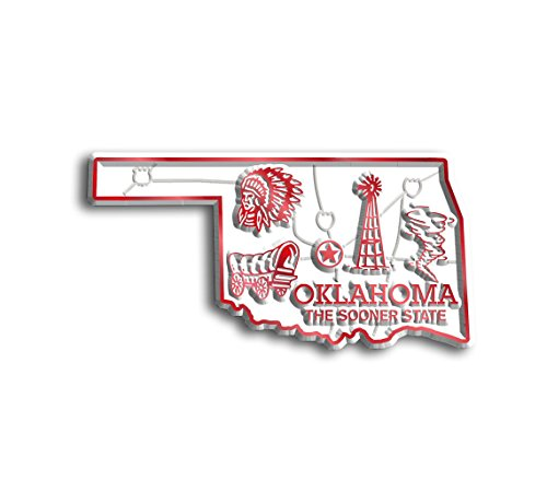 Oklahoma State Map Magnet (State Shape Flexible Magnet)