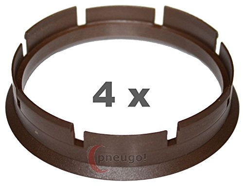 4/ X Anello Di Centraggio in plastica 72.6/ mm su 66.6/ mm Marrone
