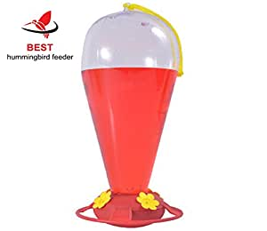 Best Hummingbird Feeder, 32 Ounce Capacity, Bright Red and Yellow