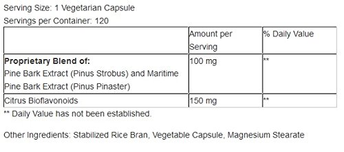 Maritime Pine Bark Extract, 120 capsules, 100 mg by Supplement Spot