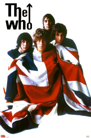 The Who Union Jack Flag Music Poster Print