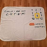 Friends themed baby milestone blanket