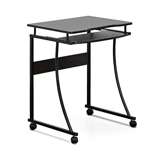 furinno fcg295ex besi metal frame computer desk with keyboard tray, espresso