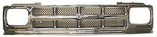 3 Bar Mesh Style Chrome & Argent Grille Grill for 91-94 Chevy S10 Pickup Blazer Chrome Argent Grille Grill