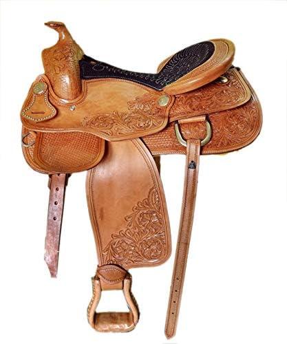 Premium Leather Western Barrel Racing Youth Child Pony Miniature Horse Saddle