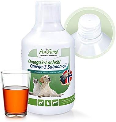 AniForte Aceite de salmón Omega-3 para perros, gatos y caballos ...