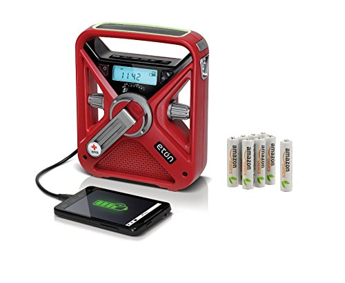American Red Cross Weather Alert Radio With Pre-Charged Rechargeable Batteries made our list of camping safety tips for families who RV and tent camp