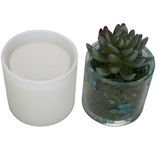 Big DIY Cylinder Resin Plant Mold, Internal Diameter 2.95