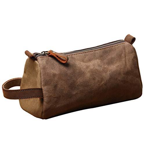 Mens Travel Toiletry Bag – Overnight bag – Mens Dopp kit – Hanging Cosmetic Canvas Organizer for Men | Bathroom Accessories Kit | Hygiene Shaving bag