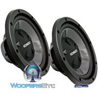 Pair of KFC-W112S - Kenwood 12 200W RMS 800W Max Each Single 8-Ohm Performance 1600W Max Combined Subwoofers