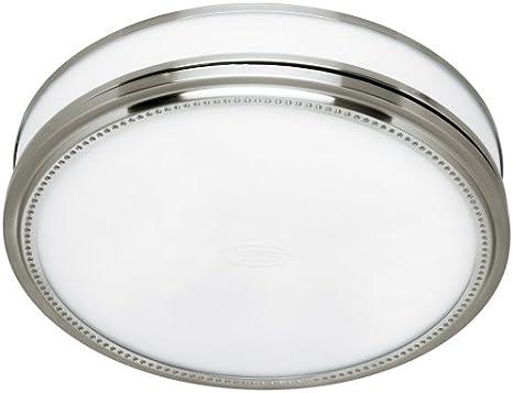 Hunter 83001 Riazzi - Ventilador de baño con luz y luz nocturna, níquel cepillado: Amazon.es: Bricolaje y herramientas