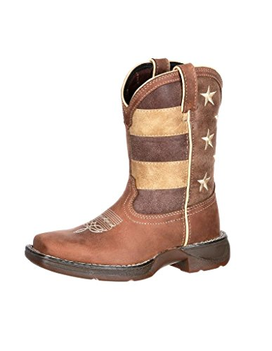 Durango Baby Dbt0157 Western Boot  Brown Union Flag  10 M Us Toddler