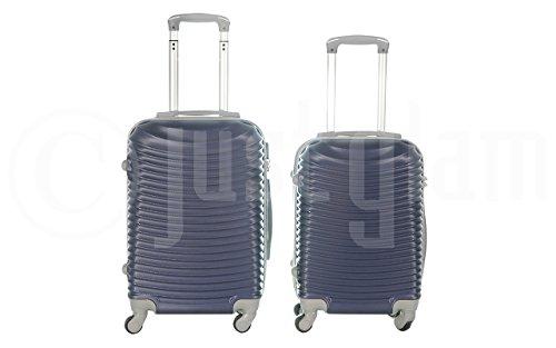 Trolley da cabina valigia rigida 4 ruote in abs policarbonato antigraffio e impermeabile compatibile voli lowcost come Easyjet Rayanair art 2030 / piccola blu