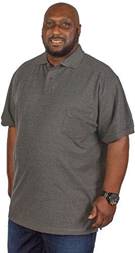 Kam Herren Poloshirt grau grau XXXX-Large