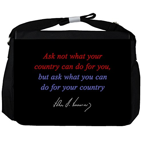 Ask not what - John F Kennedy Unisex Umhängetasche