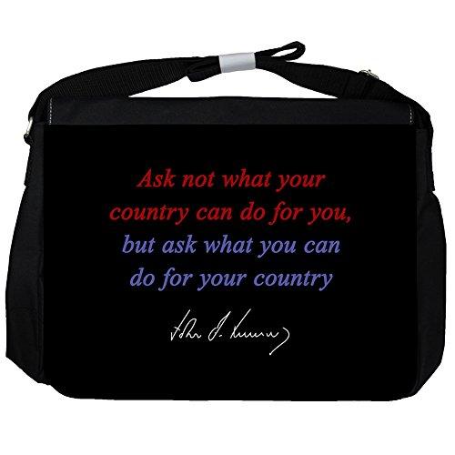 Non Chiedere Cosa - John F Kennedy Unisex Umhängetasche