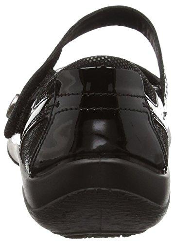 Padders Lyric - Zapatos sin cordones de otra piel para mujer Negro (Negro Patent)