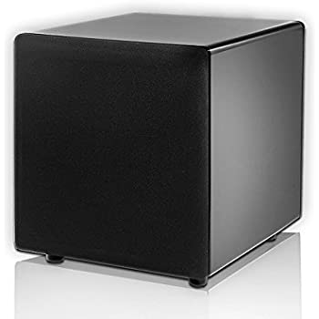 Ps88 8 Inch Dual Woofer High Performance Home Theater Subwoofer Black Lacquer Piano Finish Osd Audio