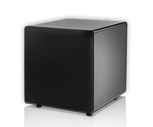 OSD Audio PS88 High Performance 8-Inch 180W Dual Woofer Home Theater Subwoofer, Black Lacquer Piano Finish by OSD Audio