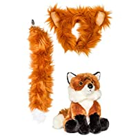 Wildlife Tree Stuffed Plush Zoo Animal Ears Headband and Tail Set with Plush Toy Animal Bundle