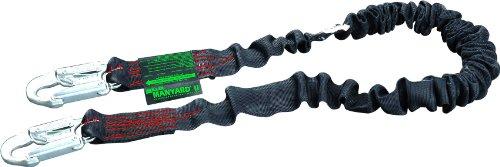 Hooks 2 Locking Snap - Miller by Honeywell 216MK/5FTBK 5-Feet Arc-Rated Shock-Absorbing Manyard II Stretchable Kevlar Web Lanyard with 2 Locking Snap Hooks, Black