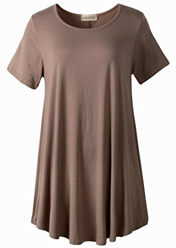 LARACE-Women-Short-Sleeves-Flare-Tunic-Tops-for-Leggings-Flowy-Shirt