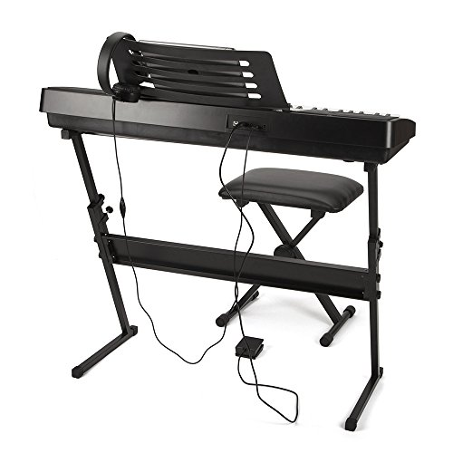 RockJam RJ761-SK Key Electronic Interactive Teaching Piano Keyboard with Stand, Stool, Sustain pedal & Headphones - Image 2