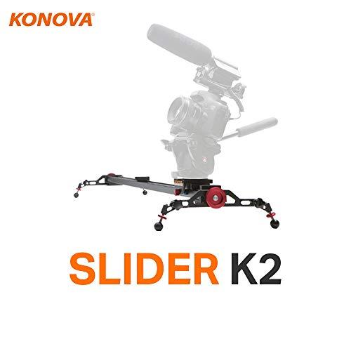 Konova Camera Slider Dolly K2 60cm (23.6 Inch) Track Aluminum light weight for Camera, Gopro, Mobile Phone, DSLR, Payloads up to 40lbs (18kg) with Bag