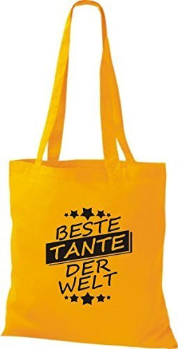 Welt Bag Yellow Golden Tante Best Shirtinstyle Cloth Der Bag Cotton Hqan0nwO