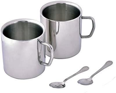 Kosma Set de 2 tazas de café de acero inoxidable con doble ...