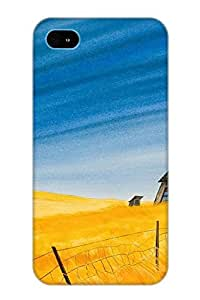Design High Impact Dirt/shock Proof Case Cover For Iphone 4/4s (school In The Tallgrass)