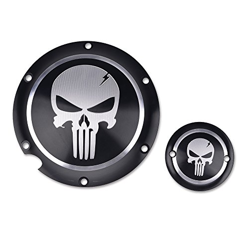 Motorcycle Derby Cover - Frenshion CNC Aluminium Skull Clutch Timing Cover Derby Timer Cover Motorcycle Accessories For Harley Davidson Iron XL883 72