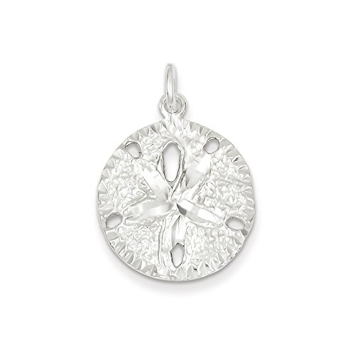 Pendants Beach and Sea Life Charms .925 Sterling Silver Sand Dollar Charm Pendant