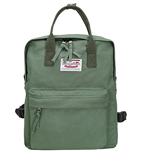 Tom Clovers Womens Canvas Backpack Handbag Casual School Travel Hiking Bags for Girls Lady Green