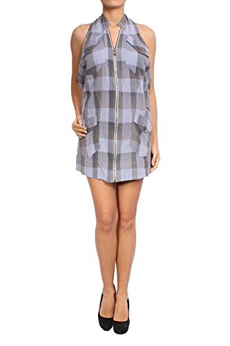 Diesel - Cotton Dress CUADRO - Blue, S ()