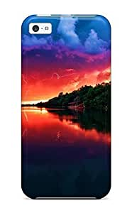 New QdzREmd5710pZOkD Amazing Red Sky Tpu Cover Case For Iphone 5c